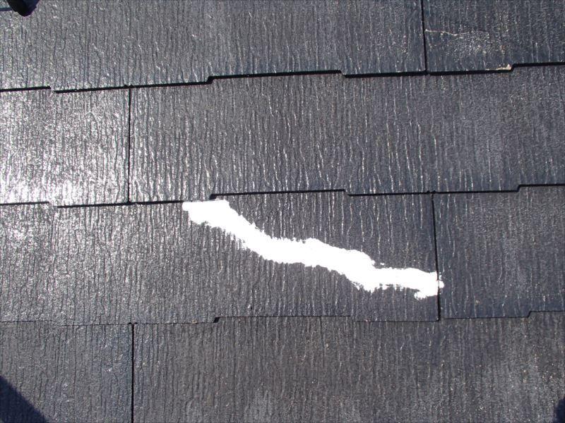 塗装前 スレート補修