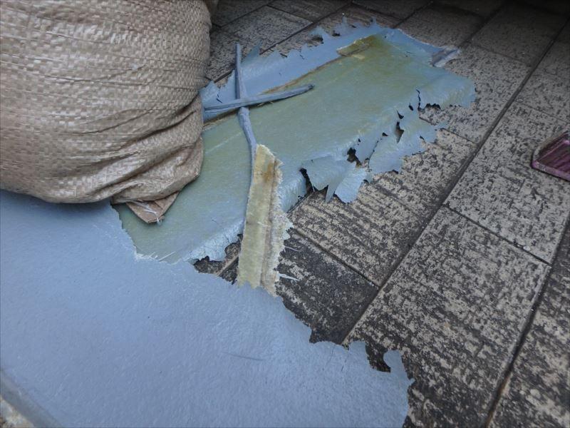 剥離した既存の防水層