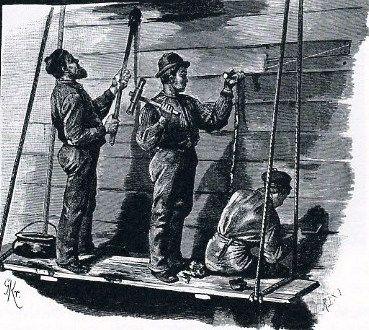 船体のコーキング