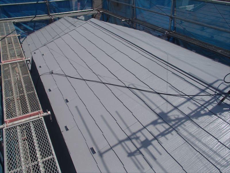 屋根上塗り 塗装後
