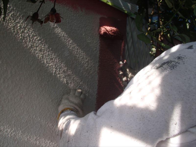 外壁中塗り 2階
