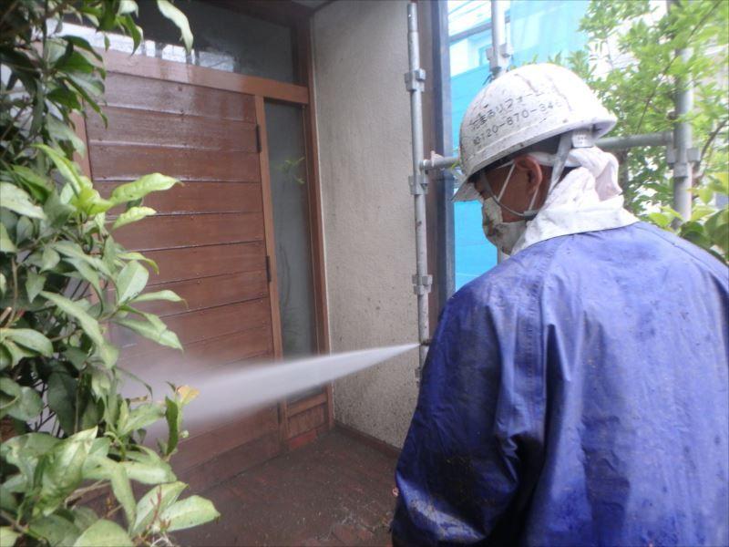 高圧洗浄 外壁 玄関
