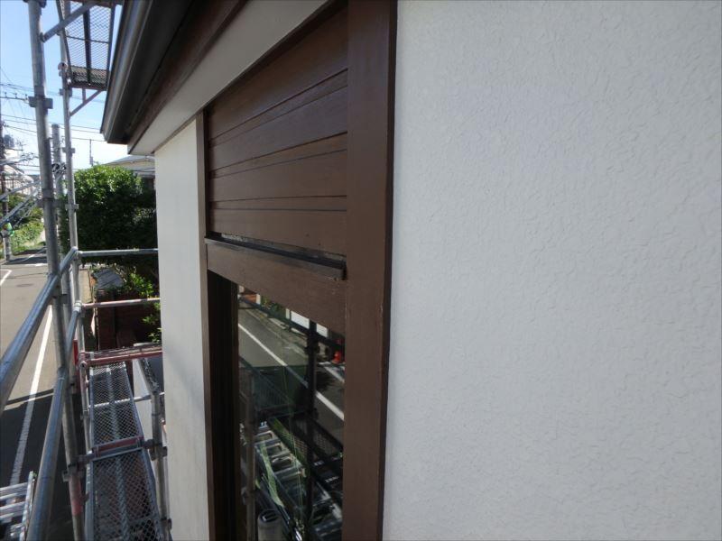 施工後の外壁です。 木部のアクセントが目立ちます