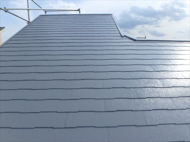 屋根は遮熱塗料で塗装されました。