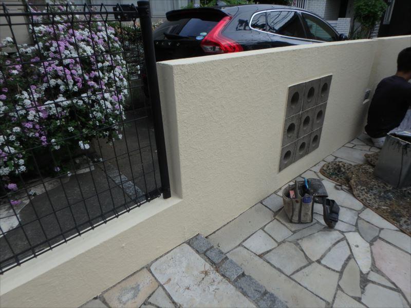 施工後の塀です。