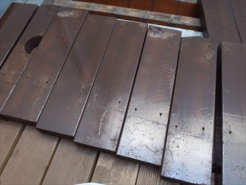 木部塗装 バルコニー床 上塗り
