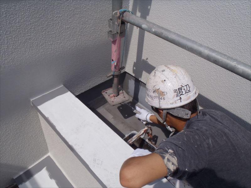 バルコニー防水塗装 プライマー塗布