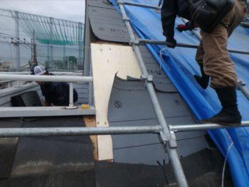 屋根工事 下地材貼り替え ルーフィング(防水シート)設置