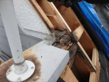 屋根撤去 雨漏り箇所確認