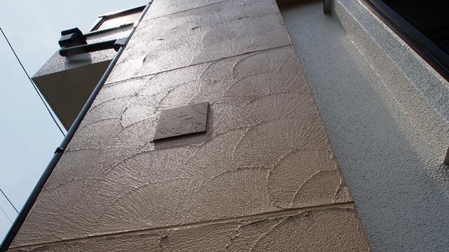 艶消し外壁から艶有り外壁に変更した例