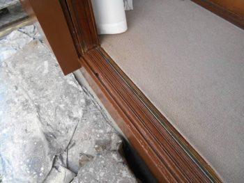 窓枠・レール塗装後