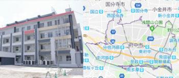 府中市役所、地図