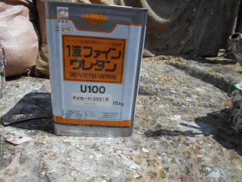 破風塗装は日本ペイントの1液ファインウレタンU100です