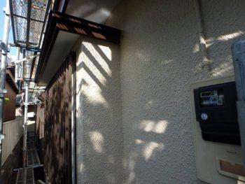 施工後の1階の外壁の様子