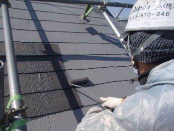 屋根中塗り
