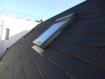 屋根の北面の様子です。 北面はトップライトもあります。