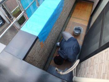 防水塗装 トップコート塗布