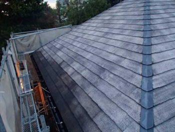 屋根塗装N様邸水洗い【西面】