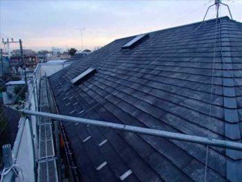 屋根塗装N様邸水洗い【東面】