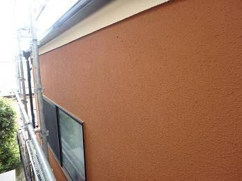 外壁の施工後の様子。