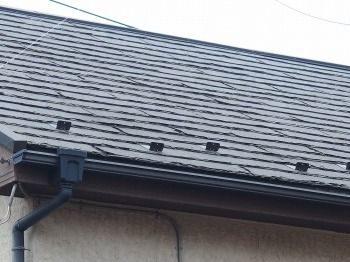 屋根の異変が下からでも分かります。