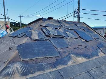 屋根材はボロボロでしたが、下地板の損傷は予想通り軽微でした。