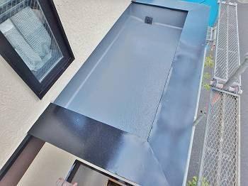 防水層内の施工後の様子。