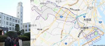 川崎市役所、地図