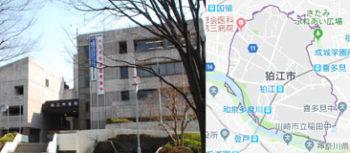 狛江市市役所、地図