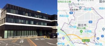 国立市市役所、地図