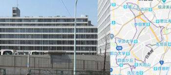 目黒市役所、地図