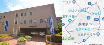 西東京市市役所、地図