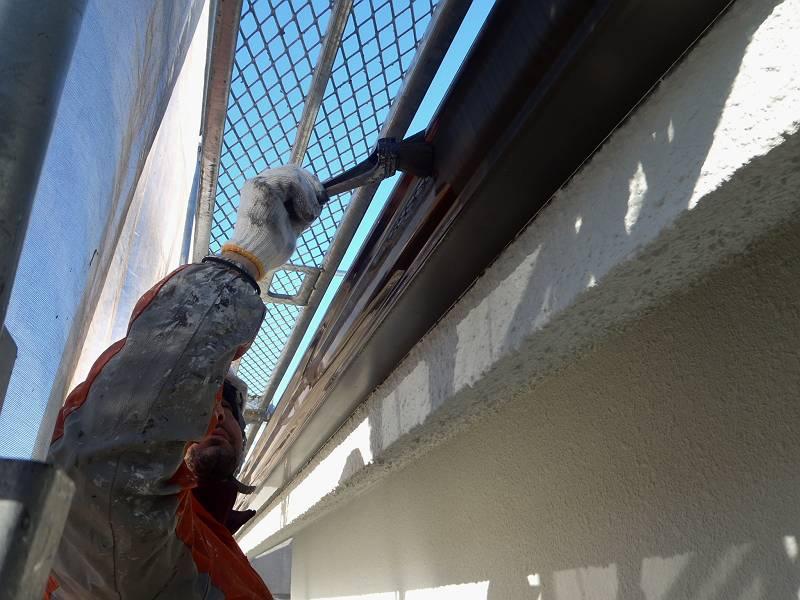 外壁塗装A様邸雨樋塗装