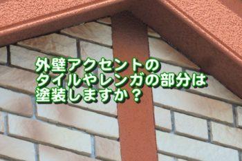 外壁アクセントのタイルやレンガの部分は塗装しますか?