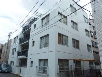 武蔵野市Sコーポ外壁塗装工事・ビフォー 西面外観