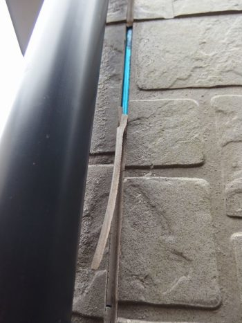 サイディングパネルの亀裂