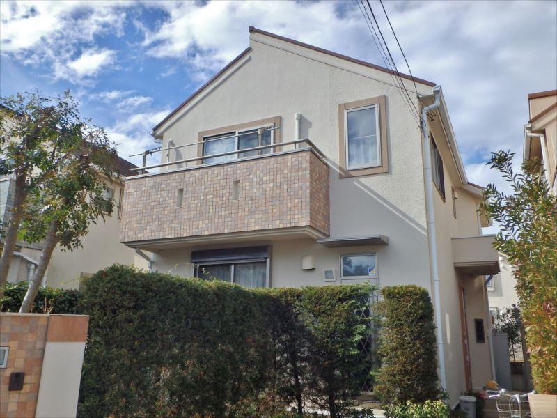 武蔵野市K様外壁塗装施工後完成