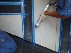 サイディングの外壁なのでシーリング工事も行いました。