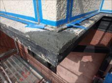 帯板が破損していた箇所はパテで補修。 ↓↓↓