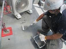 防水層もウレタン防水のトップコートを塗布し綺麗に仕上げます。
