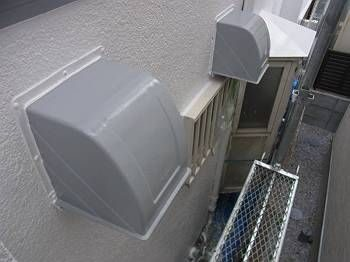 施工後 換気扇フード