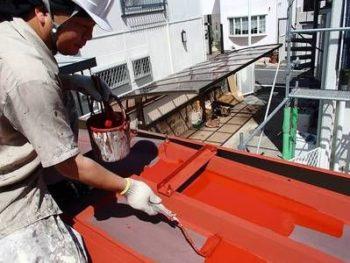 【鉄部塗装】下塗り(ハイポンファインデクロ)