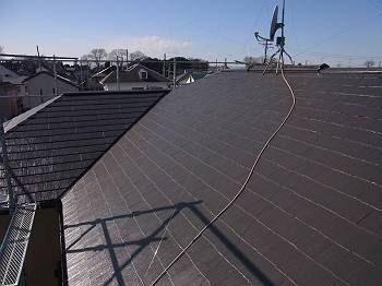 施工後 屋根