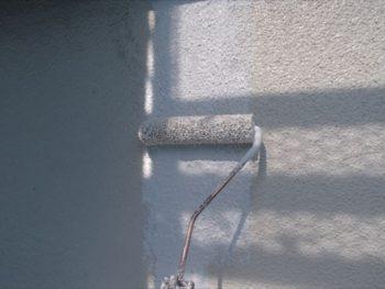 外壁補修 マスチック塗装 補修箇所パターン付け