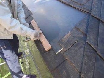 【内樋塞ぎ】カラー鋼板設置