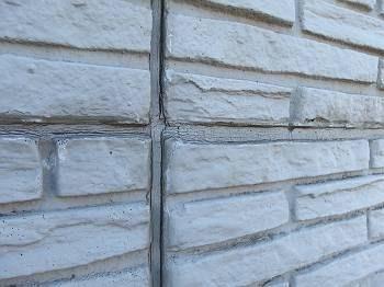 外壁の表面。目地が見えます。