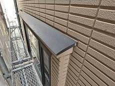 1階外壁です。2階部分とはALCパネルのデザインが違います。