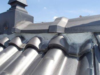 屋根漆喰補修 施工後