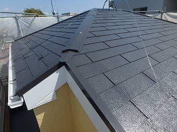 施工後の屋根です。 遮熱塗料のCLR-121で塗装しました。