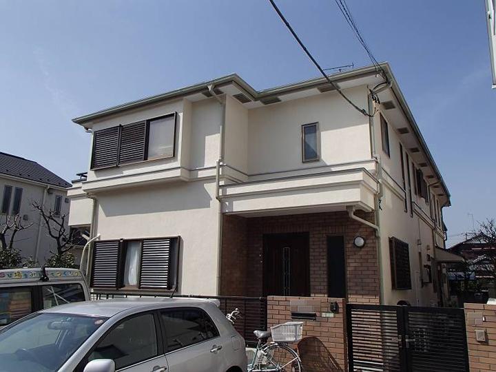 2階建て住宅の外壁塗装